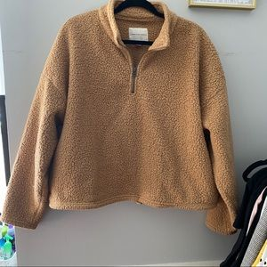 🐪Sherpa Cropped Pullover